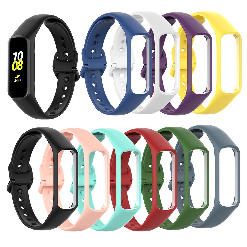 Soft Sports Silicone Replacement Watch Strap Wrist Band Strap For Samsung Galaxy Fit-e R375 Smart Band Bracelet Accessories