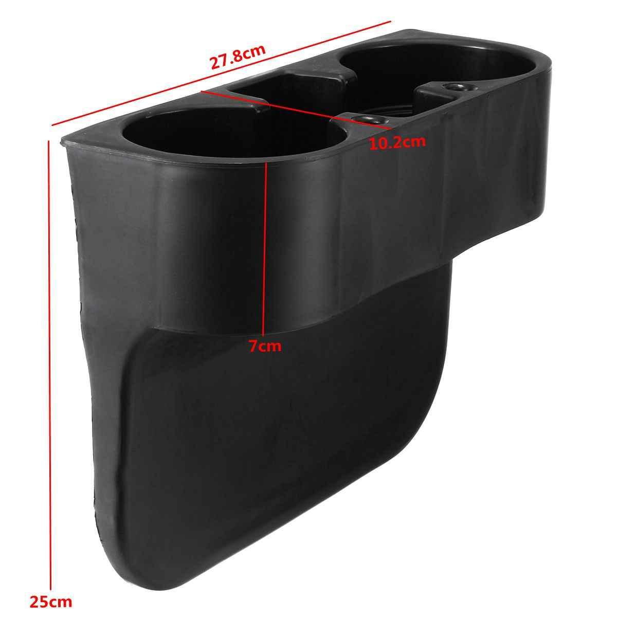 Araba siyah ön içecek telefonu bardak tutucu BMW 335 535 için e30 e36 e39 e46 e60 e90 z4 1 3 5 serisi araba Ognizer depolama aksesuarları