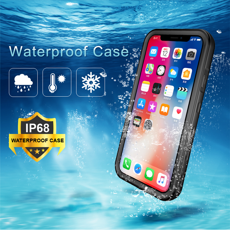 Transparent waterproof case For iPhone 11 XS XR XS pro max case cover(China)