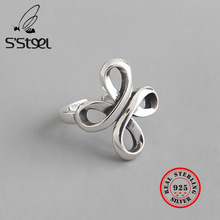 S'STEEL Chinese Knot Ring 925 Sterling Silver Rings For Women Aros De Plata De Ley Mujer Bijoux Femme 2019 Anel Womens Jewellery