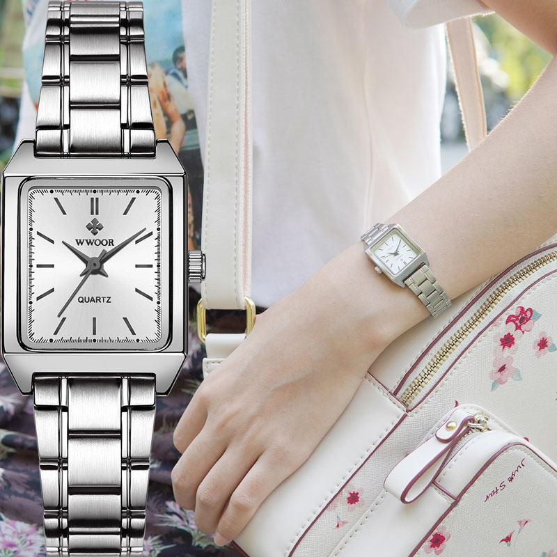 2020 Luxury Top Brand Women's Square Watches New Fashion High-end Ladies Quartz Watch Elegant Gift Dress Wristwatch Reloj Hombre