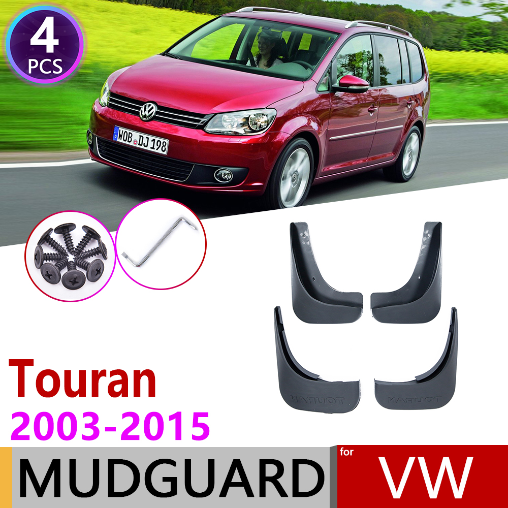 For Volkswagen VW Touran 2003~2015 MK1 Fender Mudguard Mud Flaps Guard Splash Flap Mudguards Accessories 2005 2008 2010 2013