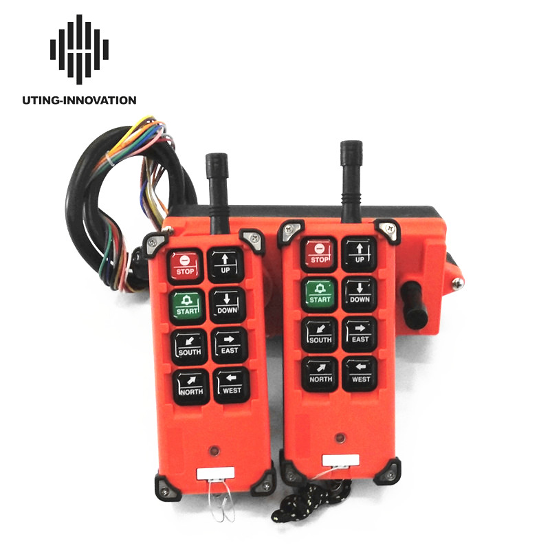 Industrial Remote Control F21-E1B Hoist Crane Lift Button Switch 8 Buttons 2 Transmitters 1 Receiver For Truck Hoist Crane