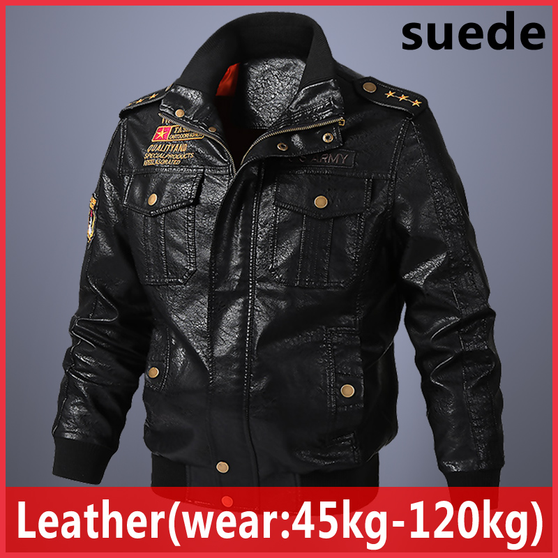 2020 New Men's suede leather Jacket Fashion Spring Autumn foreign trade Jackets large size Leather Male Motorcycle Coats casaco