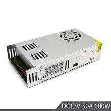 600W 12V 50A unique sortie petit Volume alimentation transformateurs de commutation AC110V 220V à DC12V SMPS pour lumière Led imprimante CCTV