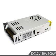 Fuente de alimentación de pequeño volumen de salida, 600W, 12V, 50A, conmutación de transformadores AC110V, 220V a DC12V, SMPS para impresora de luz Led CCTV