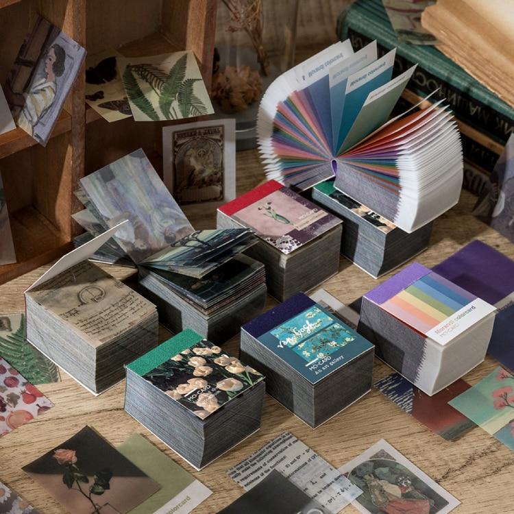 366 pcs of Van Gogh color multi-style kraft paper card Decorative diary Album DIY scrapbook butter material paper retro LOMO