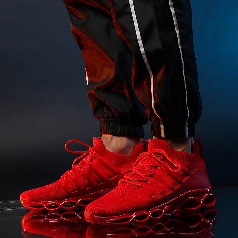 H31472891ae8c4891ae90101c1b254b9eM - New Fishbone Blade Shoes Fashion Sneaker Shoes for Men Plus Size 46 Comfortable Sports Men's Red Shoes Jogging Casual Shoes 48