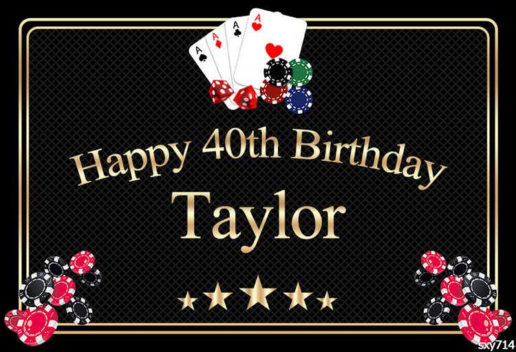 Sensfun niestandardowe tło urodziny kasyno temat Las Vegas fotografia tło Photophone Photo Studio rekwizyty fotograficzne Photobooth