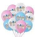 1 Набор, кукла-сюрприз, латексный шар LOL, рождественские украшения, товары для детского дня рождения, фон, надувной шар, подарки