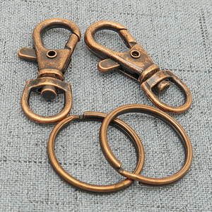 Image 5 - 50   Key Chain Supplies   Swivel Clasp Key Clasp Trigger Snap Clip Hook + Split Key Ring   Silver Plated, Bronze, Copper, Steel