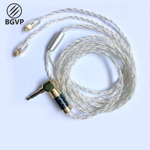 BGVP DM5 Silver Plated Earphone Cable SE846 High Frequency Upgraded 8 Strand MMCX Cable with Mic(China)