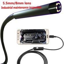 Endoscope 720P 5.5mm Lens Snake Semi Rigid Cable 6 LED Light Waterproof USB Camera Camera