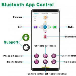 Image 2 - Keyestudio pulpit Mini Bluetooth inteligentny Robot samochodowy zestaw V3.0 dla Arduino Robot macierzystych/wsparcie Mixly bloki kodowania