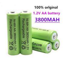 100% oryginalny AA 3800 mAh 1.2 V jakości akumulator AA 3800 mAh Ni-MH akumulator 1.2 V 2A baterii