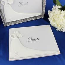 Bride and Groom White Wedding Guest Book Engagement Anniversary Guestbook Album Party Decor Supplies(China)