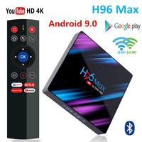 H96 MAX 9,0 Android TV Box Rockchip RK3318 4G Ram 32GB 64GB Rom H.265 4K Smart TV Box 2,4G & 5G Wifi BT4.0 2G 16G телеприставка