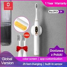 Электрическая зубная щетка Oclean X Sonic, водонепроницаемая ультразвуковая зубная щетка перезаряжаемая для взрослых, для отбеливания, лучший подарок для здоровья
