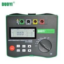 DUOYI probador Digital de Resistencia a Tierra y resistencia del suelo, DY4300A, 4 polos, LCD 0 20KΩ, probador de frecuencia de voltaje de interferencia