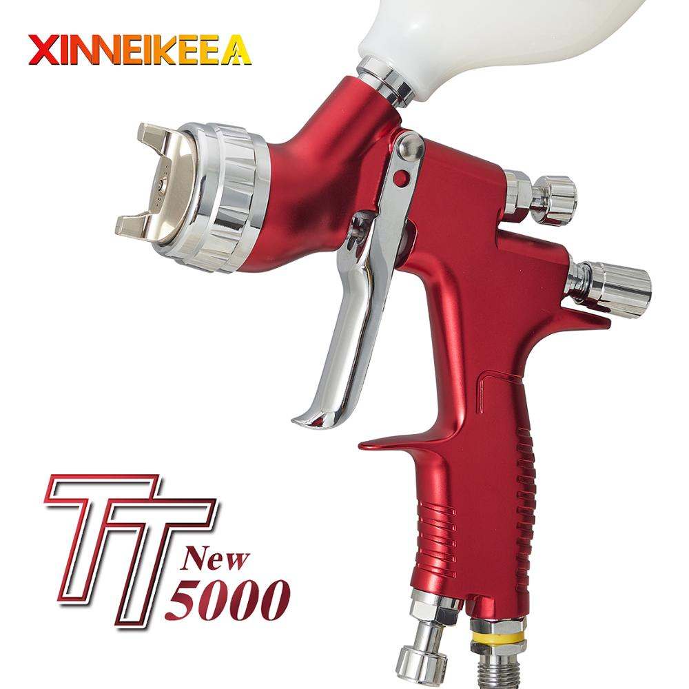 New HVLP TT 5000 High-End Automotive Spray Gun High Atomization Professional Spray Gun Caliber Size 1.3mm Cup Capacity 600ml