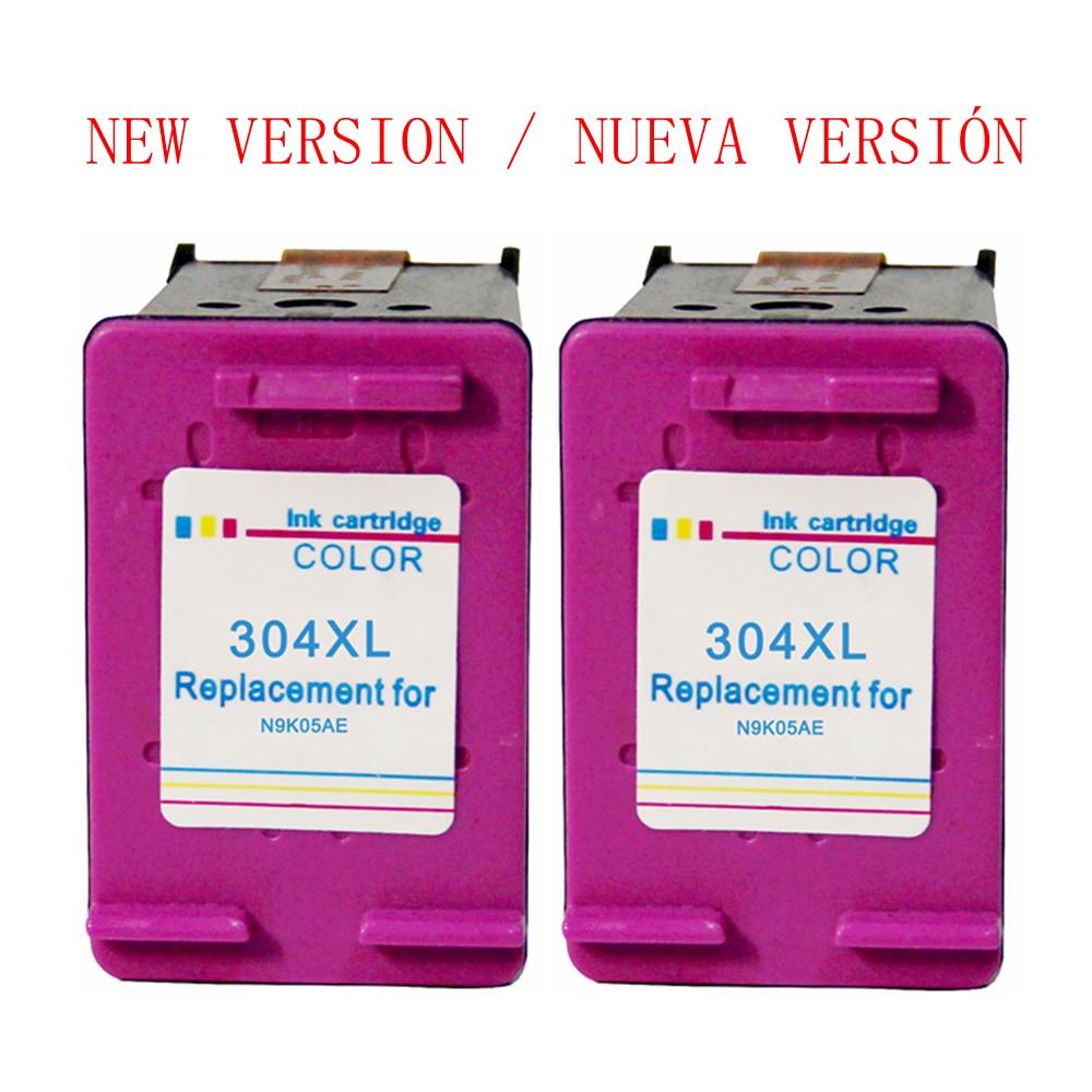 Nueva versión 304 XL cartucho de tinta reemplazo tricolor para HP 304 304XL para HP Deskjet 2600 3720 5000 Envy 5030 impresoras 5032 Original nuevo M0H50A M0H51A cabezal de impresión para HP GT5800 5810 de tinta 5820 tanque 300, 310, 311, 315, 318, 319, 400, 410, 411, 415, 418, 419 cabezal de impresión