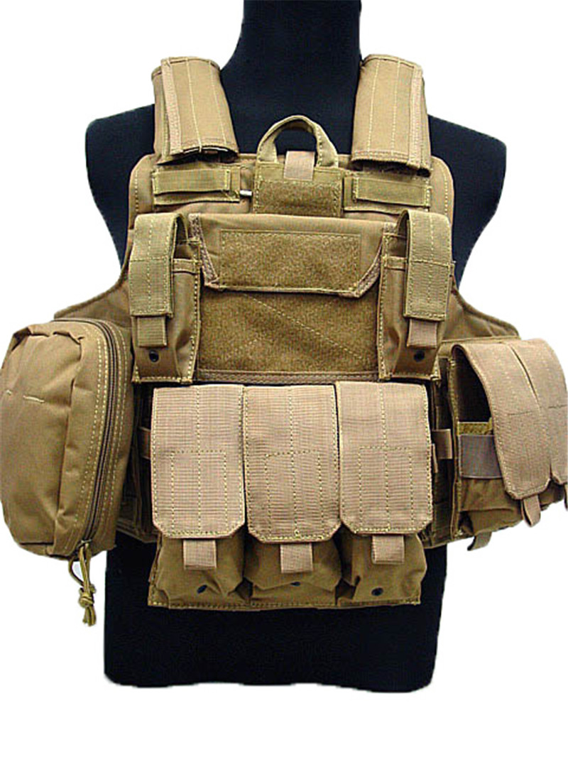 Carrier Strike Vests Hunting Clothes Gear Tactical Vest Molle Airsoft Combat Vest W/Magazine Pouch Releasable Armor Plate