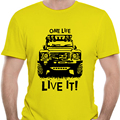 Мужская футболка Landrover Defender 90 110 One Life Live It Off Road Land Rover 0485R