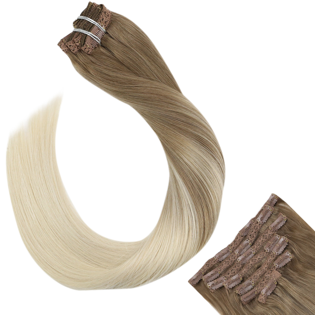 Ugeat Clip In Hair Extensions Thick Full End Hair 14-24