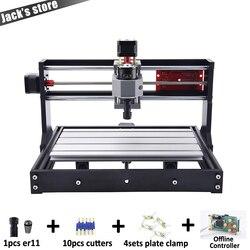 Cnc 3018 pro er11 gravador a laser pcb fresadora cnc roteador cnc3018 máquina de gravura grbl mini gravador