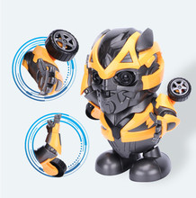 Shakeable Bumblebee DanceToy Cool Wave Music Transform ไฟฟ้าเด็กชุด(China)