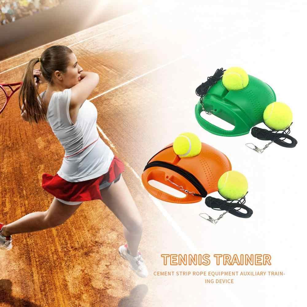 1 takım tenis eğitmeni 1/2 topu kendinden çalışma ribaund topu süpürgelik egzersiz spor müsabaka cihazı tenis eğitim ekipmanları