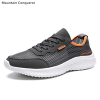 Горные завоеватели 2019, мужская обувь, летние кроссовки, дышащая повседневная обувь для пары, модные мужские сетчатые туфли на плоской подош...