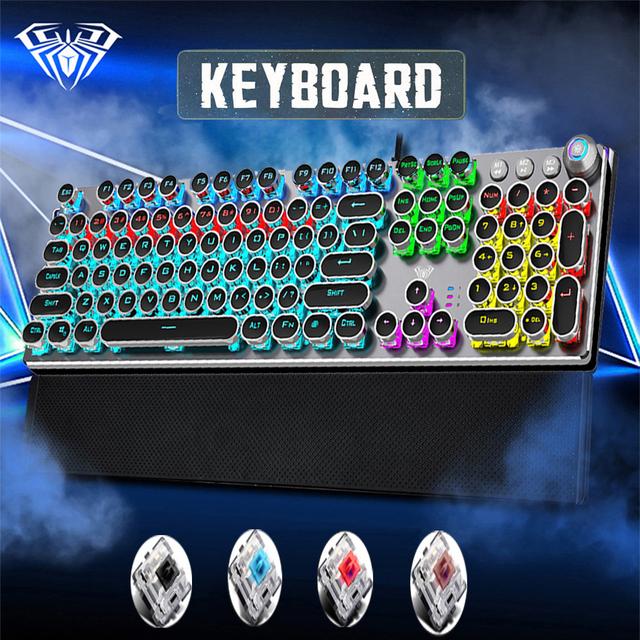 Game Mechanical Keyboard104 keys LED Backlit Anti-ghosting