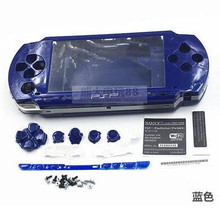 Бесплатная доставка 6 цветов для PSP 1000 PSP 1000 полный корпус Чехол Сменные Наборы кнопок