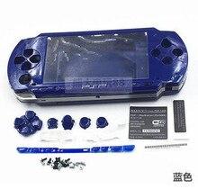 Darmowa wysyłka 6 kolorów dla PSP 1000 PSP1000 pełna obudowa obudowa na telefon zestawy przycisków zamiennych