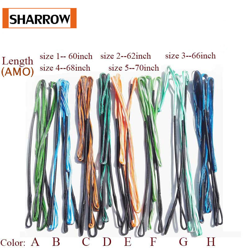 60-70inch Replacement Archery Bow String 16 Strands Traditional Recurve Longbow Hunting Target Shooting Accessories