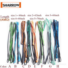 60-70inch Replacement Archery Bow String 16 Strands Traditional Recurve Longbow Hunting Target Shooting Accessories стоимость