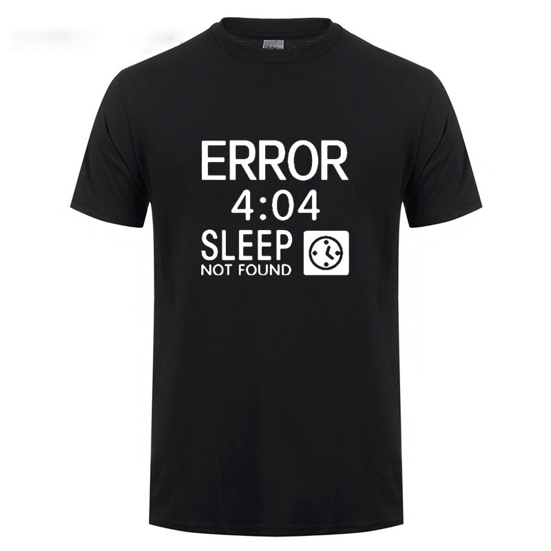 Artistic Computer <font><b>404</b></font> <font><b>Error</b></font> Not Found T <font><b>Shirt</b></font> Funny Birthday Gifts For Men Coder Geek Programmer T-<font><b>shirt</b></font> Large Size Casual Tee image