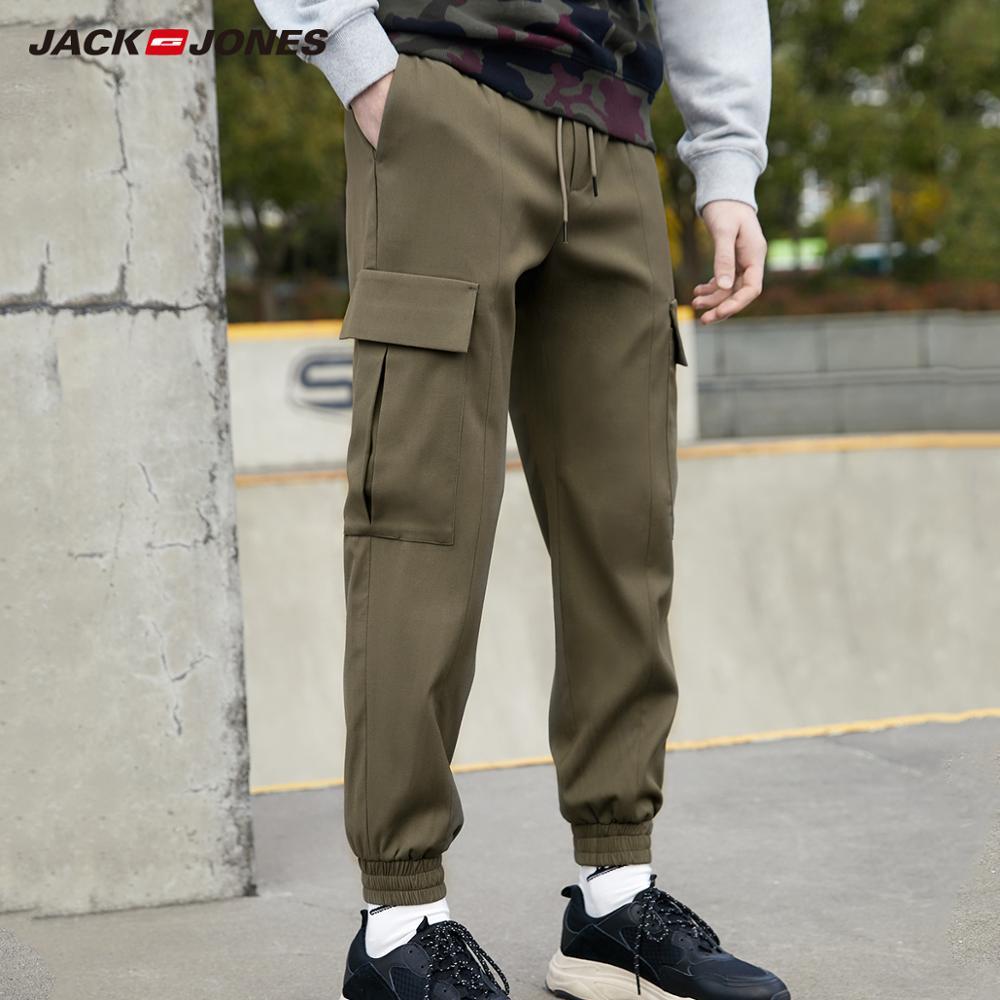 JackJones Men's Pure Color Cargo Pockets Casual Pants Style| 220114516