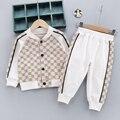 2021 Fashion Baby Boy Girl Sport Clothes Set Coat+Pant 2PCS Kids Pure Cotton Jacket Clothing Suit Long Sleeve Spring Autumn 1-4Y