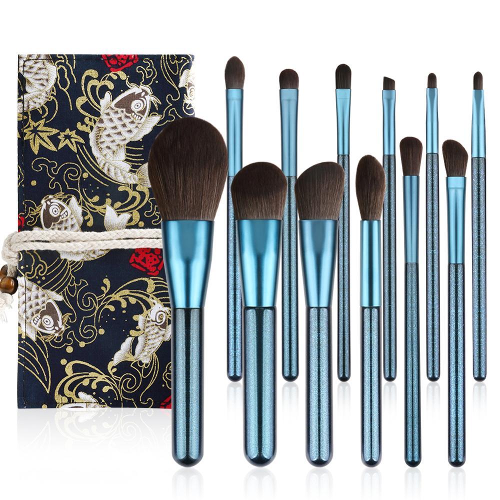 Makeup Brushes Set  Premium Cosmetic Makeup Brush Kabuki Foundation Face Powder Blush Eyeshadow Concealers Makeup Brush Kit