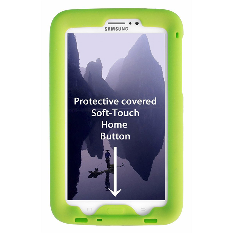 MingShore Silicone Case For <font><b>Samsung</b></font> <font><b>Galaxy</b></font> <font><b>Tab</b></font> <font><b>3</b></font> 7.0 inch SM-T217 Rugged Cover For <font><b>Galaxy</b></font> <font><b>Tab</b></font> <font><b>3</b></font> 7.0 T210 <font><b>T211</b></font> Tablet Case image