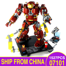 07101 LegoEAS Marvel Super Heros Avengers Series 76105 IronMan Hulkbuster Model Kit Educational Kids Toys Building Bricks Blocks