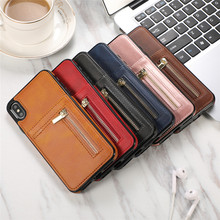 Phone Case sFor iPhone X XS Max XR Luxurry Zipper Leather Wallet Card Cover Fundas For 8 7 6 6s Plus Capa