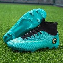ZUFENG, новинка, взрослые мужские уличные футбольные бутсы, обувь с высоким берцем, TF/FG, футбольные бутсы, тренировочные спортивные кроссовки, обувь размера плюс 35-45