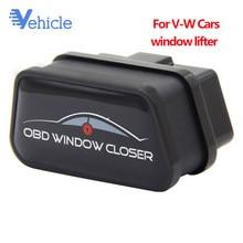 Elevador de janela de baixa potência, fechamento de pausa aberta do windows obd auto janela do carro, efeito mais próximo para vw obd2