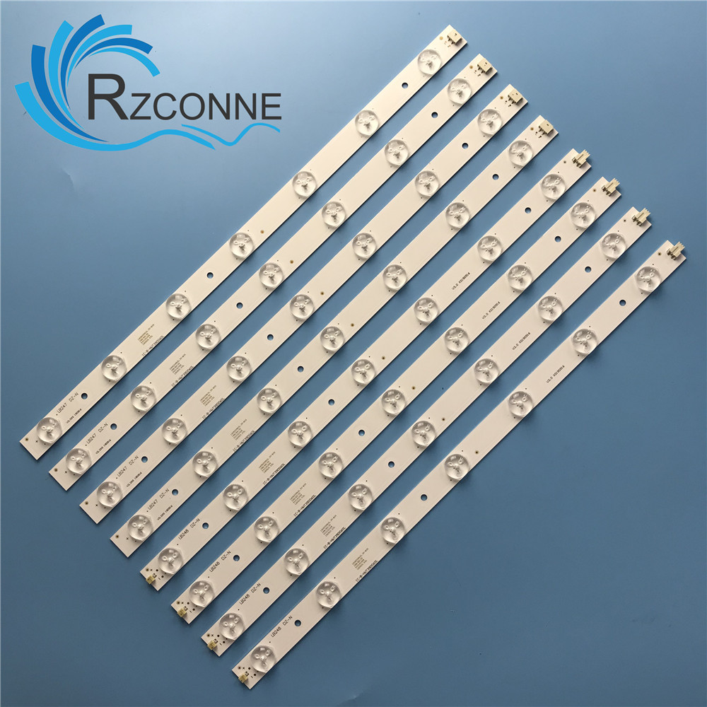 LED Backlight Strip Bar 14 Lamp For 180-W00-390000H IC-B-HWT39D060L IC-B-HWT39D060R  V390HJ1-P02 T390HVN01.0