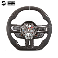 100% Real Carbon Fiber Steering Wheel for For d Mustang all cover