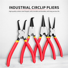 4 piece portable internal and external pliers fixed pliers multifunctional pliers set crimping tool straight and curved snapring