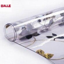 BALLE 1.5mm przezroczysty mocny obrus z PVC z tworzywa sztucznego Mat Pad jasne obrus miękkie szkło dla prostokątny stół jadalnia biurko